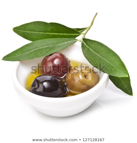 fresh olive branch with sea salt Stock photo © joannawnuk