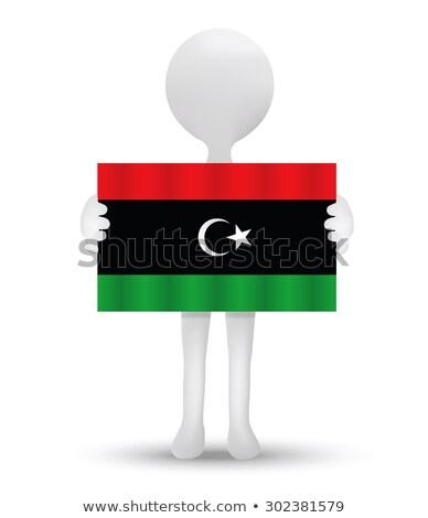 арабских небольшой 3d человек флаг фон Сток-фото © Istanbul2009