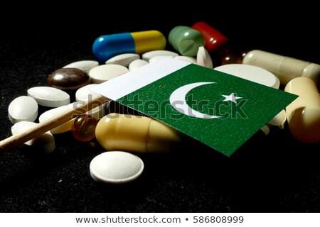 Tabletta Pakisztán zászló kép renderelt mű Stock fotó © tang90246