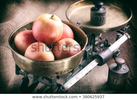 Rood · appels · geïsoleerd · witte · gala · appel - stockfoto © fuzzbones0