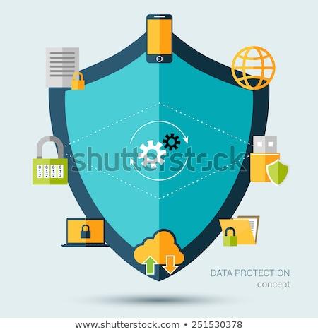 Sécurité modernes réseau symboles affaires portable Photo stock © JanPietruszka