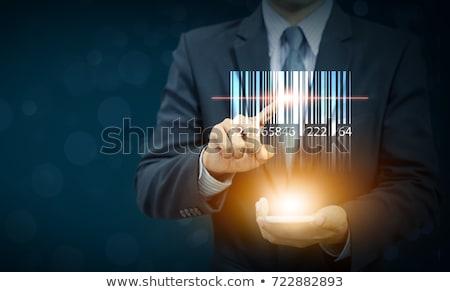 Technologie Barcode mot fond rouge noir Photo stock © fuzzbones0
