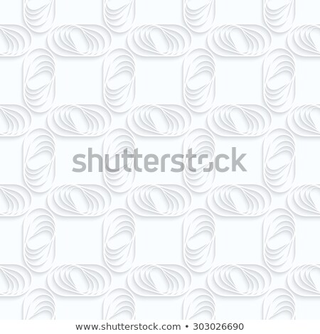 Quilling white paper ovals with stripes in grid Stock photo © Zebra-Finch