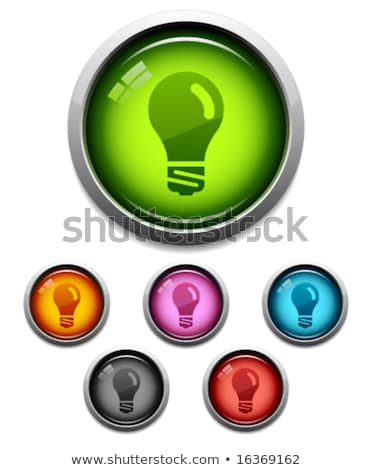 лампа Purple вектор икона кнопки интернет свет Сток-фото © rizwanali3d