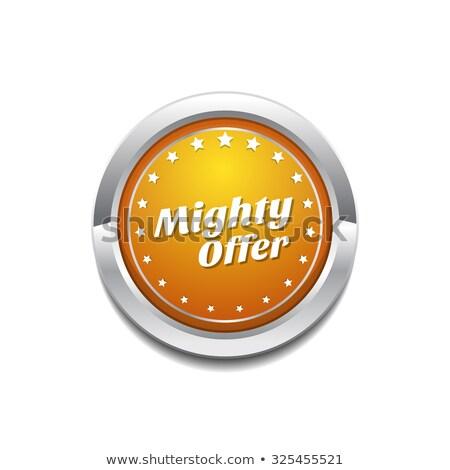 Machtig bieden Geel vector icon knop Stockfoto © rizwanali3d