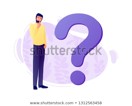 FAQ Violet Vector Icon Design Stock photo © rizwanali3d