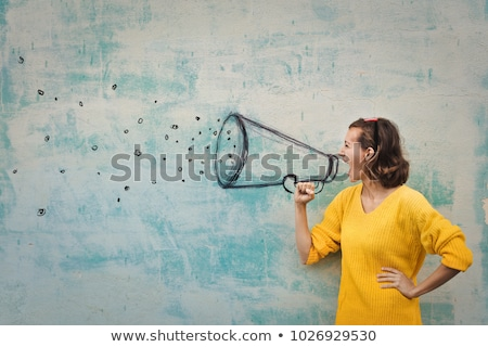 Shouting woman. Stock photo © Kurhan