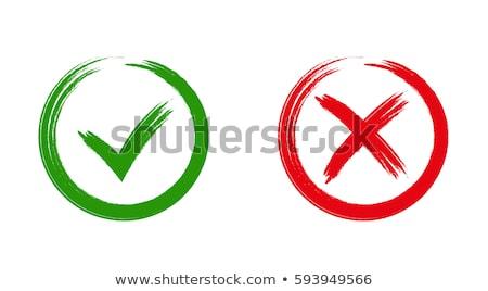 Imzalamak kırmızı vektör ikon dizayn dijital Stok fotoğraf © rizwanali3d