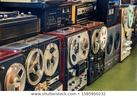 dirty old vintage open audio cassette player stock photo © paha_l