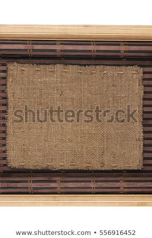 Cadre toile de jute blanche bois surface espace Photo stock © alekleks