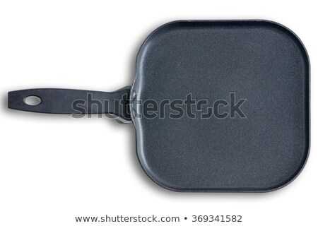 Square kitchen skillet with chamfered corners Stock photo © ozgur