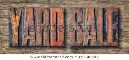 販売 · タイプ · 言葉 · 書かれた · ヴィンテージ - ストックフォト © zerbor