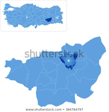 Map of Diyarbakir - Kocakoy is pulled out Stock photo © Istanbul2009