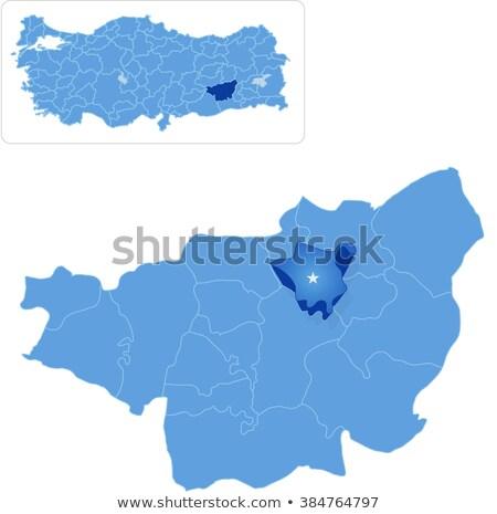 Kaart uit administratief wijk weg star Stockfoto © Istanbul2009