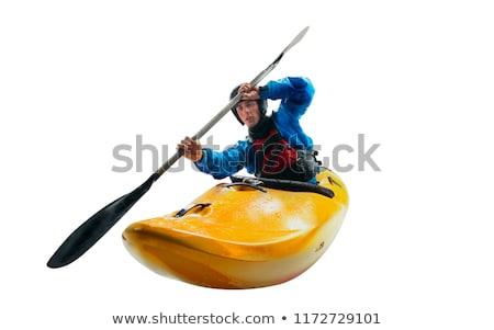 whitewater kayak isolated Stock photo © PixelsAway