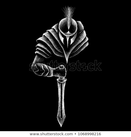 Gladiator posing with sword isolated on white Stock photo © Elnur