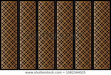 Fém ajtó minta mértani téma öreg Stock fotó © sirylok