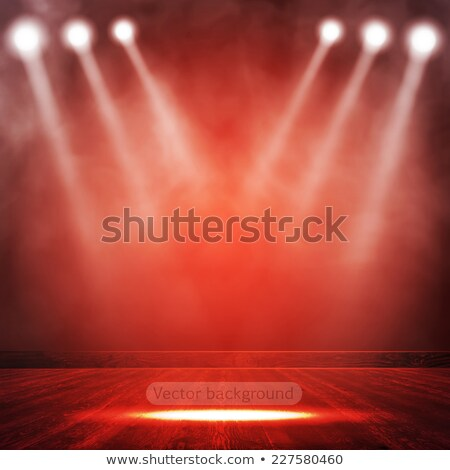 Rouge intérieur projecteur montrent résumé fond Photo stock © cherezoff