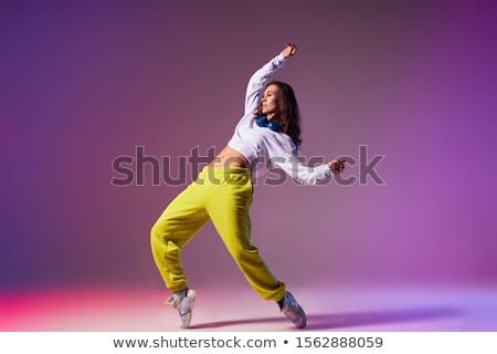 cool · regarder · danseur · difficile · Aller · blanche - photo stock © fanfo