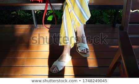 legs and feets of an ordinary young woman Stock photo © Giulio_Fornasar