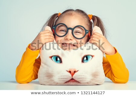 Three little kittens with silly face Stock photo © bluering