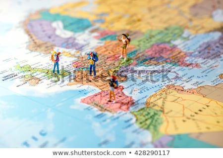 Miniature friends planning euro trip. Macro photo Stock photo © Kirill_M