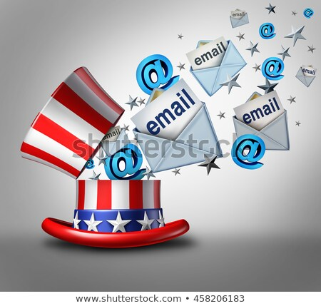 Stockfoto: Amerikaanse · verkiezing · e-mail · crisis · Open · top