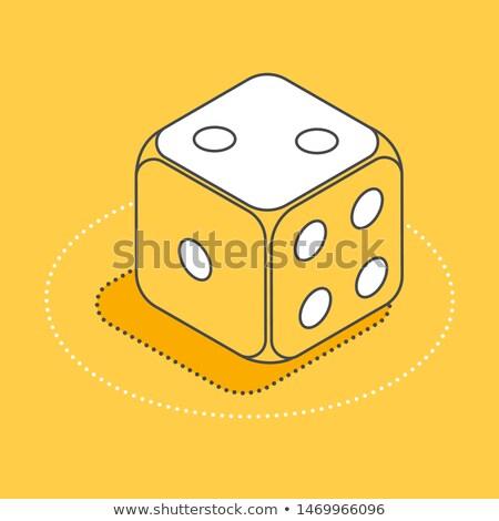 játék · izolált · fehér · doboz · asztal · kocka - stock fotó © sifis
