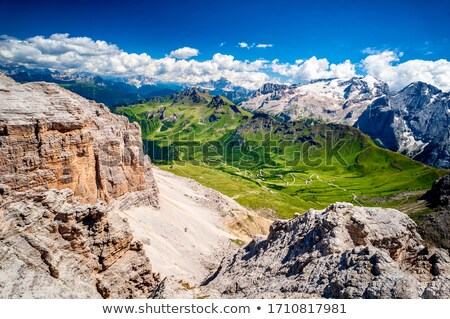 Dolomities- view from Sass pordoi Stock photo © Antonio-S