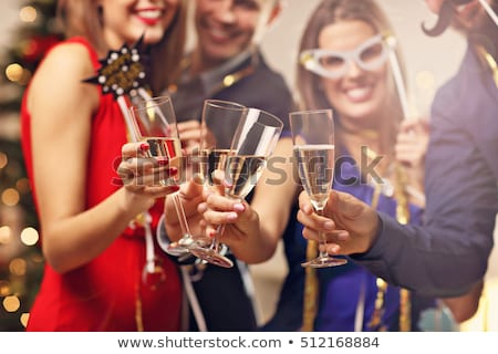 Young couple toasting the New Year with champagne Stock photo © dash