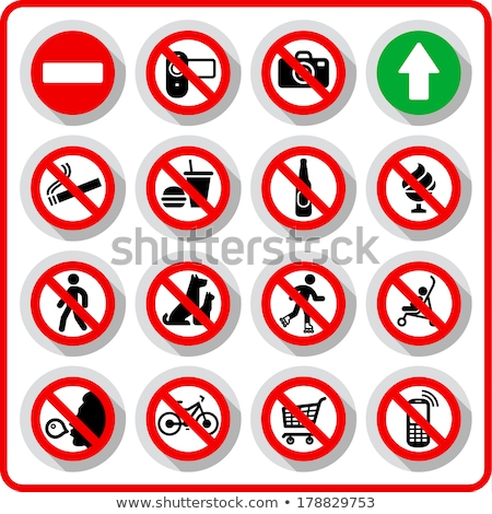 No chewing gum prohibited symbol sign on paper sticker, vector illustration against blowing a bubble Stock photo © Hermione