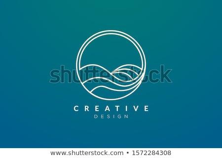 água onda logotipo modelo natureza casa Foto stock © Ggs
