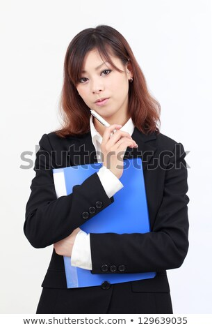 Business woman holding document binder Stock photo © stevanovicigor
