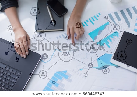 System of interconnection of social network Stock photo © alphaspirit