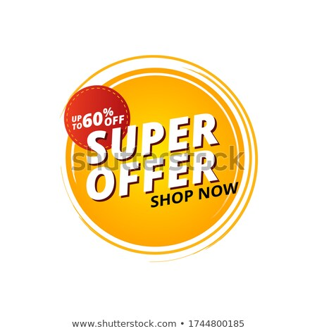super value promotional discount and offer banner template Stock photo © SArts