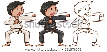 Rabisco homem karatê ilustração esportes Foto stock © bluering