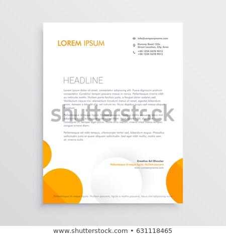 Minimal Briefkopf Design orange weiß Kreise Stock foto © SArts