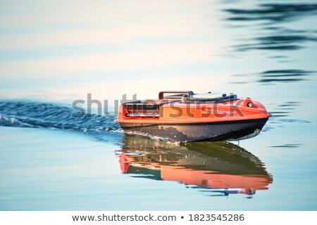 Radio remote control rc sailing yacht boat simulation model Stock photo © stevanovicigor