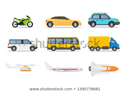 diferente · coche · fondo · marco · autobús · bicicleta - foto stock © bluering