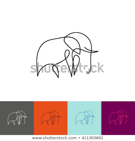 Banner template with wild animals stock photo © bluering