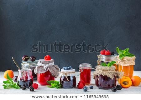 Congestionamento verão laranja café da manhã baga ingrediente Foto stock © M-studio