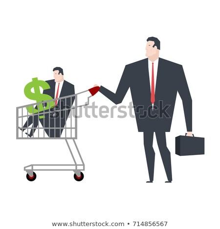 Negócio família armazenar compras gerente carrinho Foto stock © MaryValery