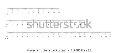 Centymetr wielobarwny biały narzędzie władcy numer Zdjęcia stock © SRNR