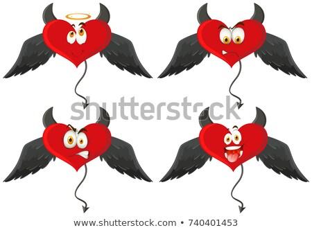 4 悪魔 心 表情 実例 顔 ストックフォト © bluering