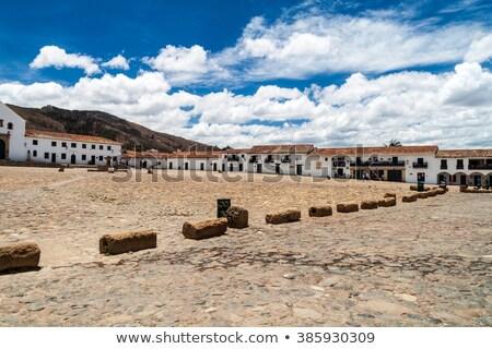 Sömürge binalar villa 14 Kolombiya stil Stok fotoğraf © Quasarphoto