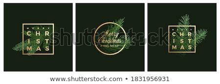 Natal enfeitar quadro vetor fronteira Foto stock © kostins