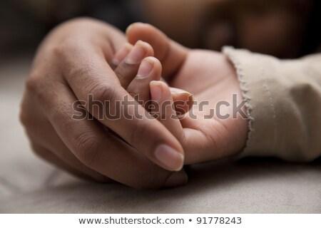 Anya lánygyermek alszik mező nő szeretet Stock fotó © IS2