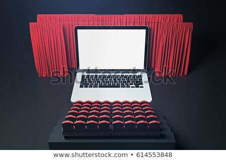 ноутбука экране Creative 3D современных конференц-зал Сток-фото © tashatuvango