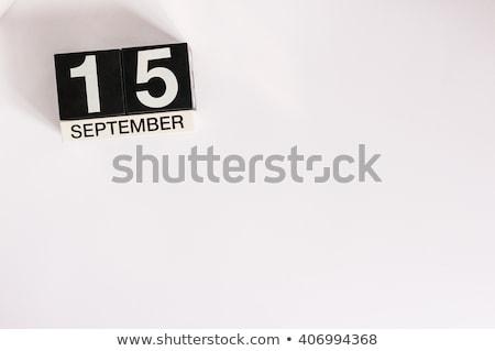 Kockák piros fehér asztal nemzetközi nap Stock fotó © Oakozhan