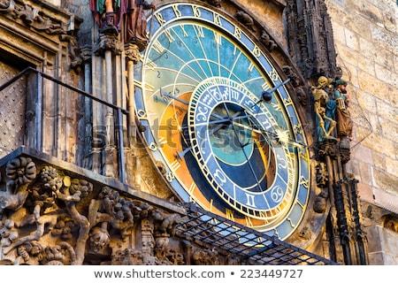 Foto stock: Astronômico · relógio · cidade · velha · praça · Praga · tcheco